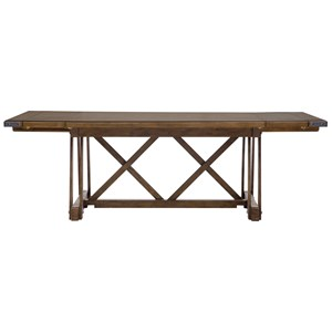 Rectangular Dining Table with X-Style Trestle Base