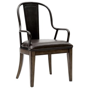 Arm Chair with Upholstered Seat