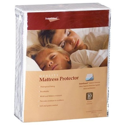 StainGuard Cotton Mattress Protector Twin Cotton Mattress Protector by PureCare at Ruby Gordon Home