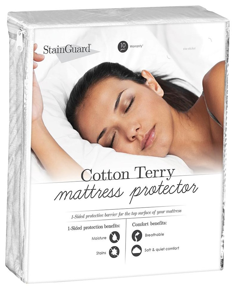 StainGuard Cotton Mattress Protector Twin Cotton Mattress Protector at Ultimate Mattress