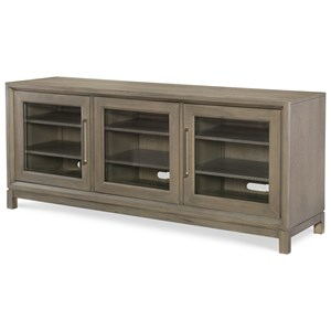 Entertainment Console with Built-in Outlet