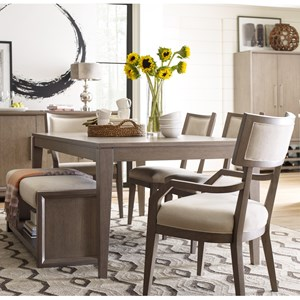 Dining Set with Upholstered Bench