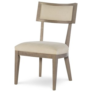 Klismo Side Chair with Upholstered Seat and Back