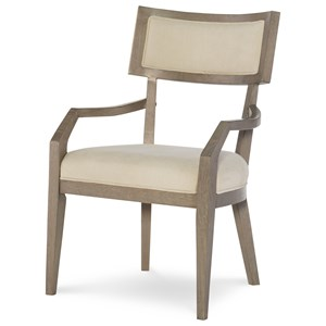 Klismo Arm Chair with Upholstered Seat and Back