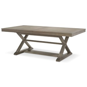 "Trestle Table with 24"" Leaf"