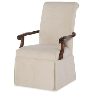 Host Arm Chair with Upholstered Seat and Back
