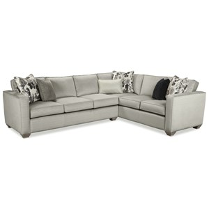 Two Piece Sectional Sofa with RAF Sofa Return