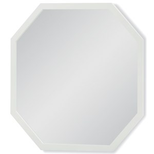 White Finished Octagonal Mirror