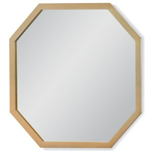 Gold Finished Octagonal Mirror