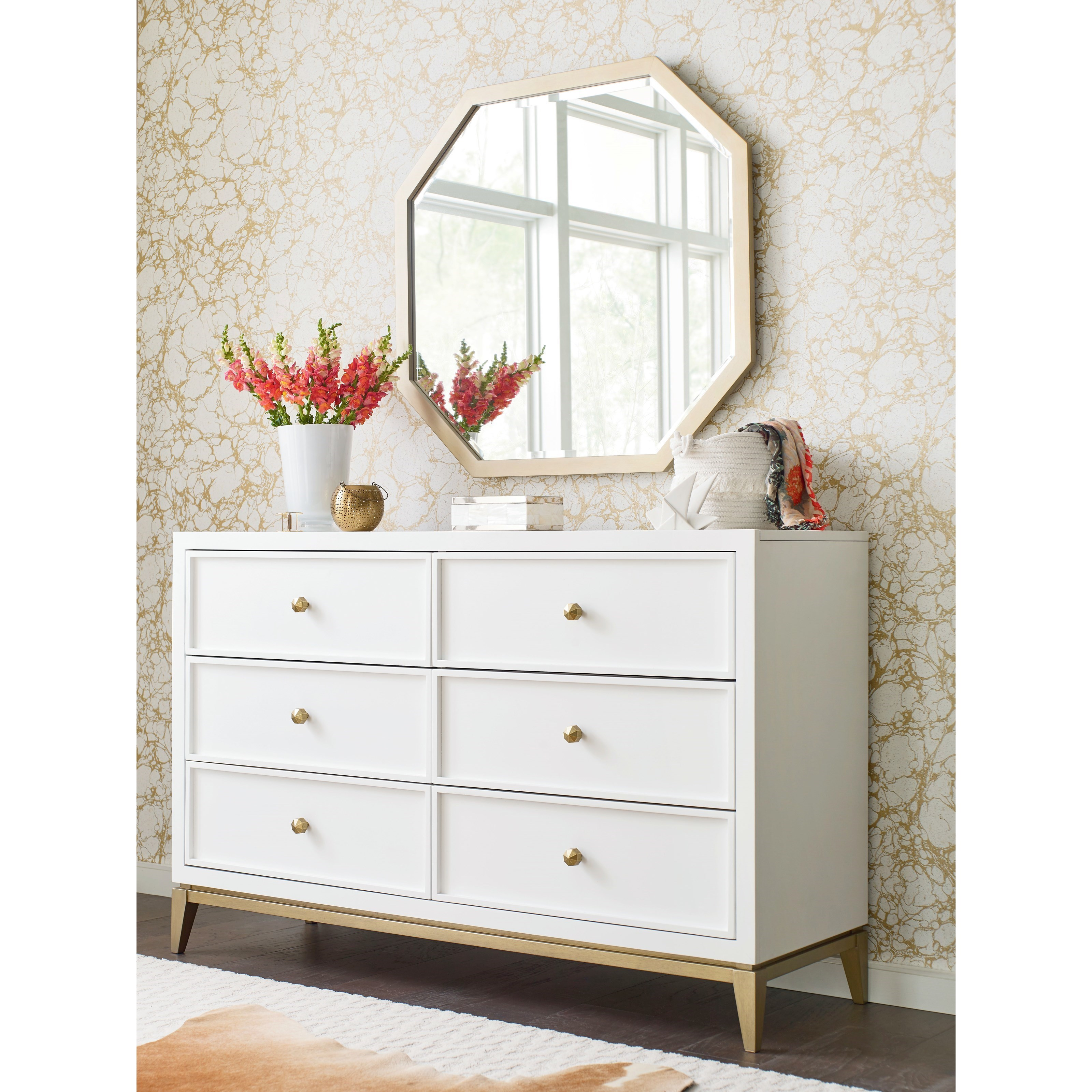 Chelsea Dresser and Mirror Set by Rachael Ray Home by Legacy Classic at Stoney Creek Furniture
