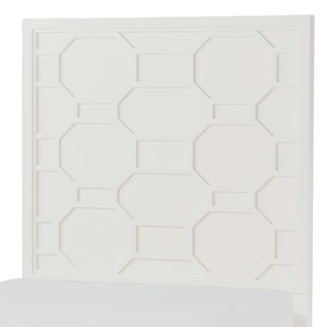 Twin Panel Headboard with Lattice Design