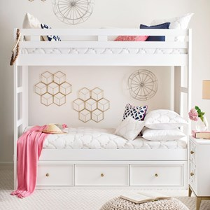 Twin-Over-Twin Bunk Bed with Underbed Storage