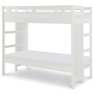 Twin-Over-Twin Bunk Bed with Built in Ladder