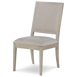 Upholstered Side Chair  With Circle Detail