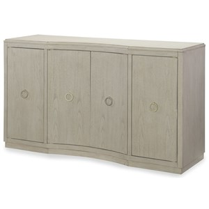 Four Door Credenza With Wine Storage.