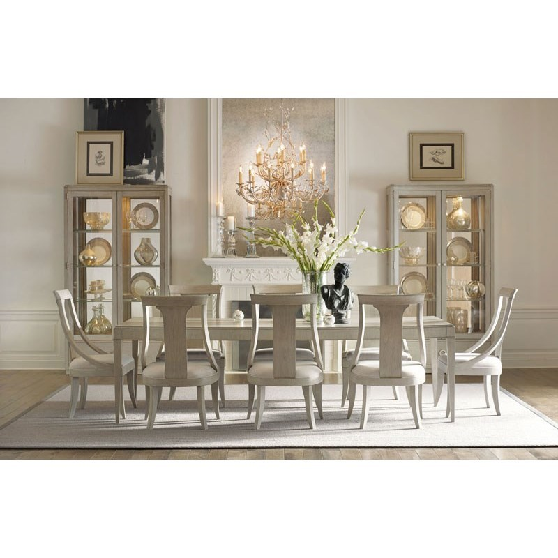"""Cinema 124"""" Dining Table and Sling Back Chair Set by Rachael Ray Home by Legacy Classic at Stoney Creek Furniture"""