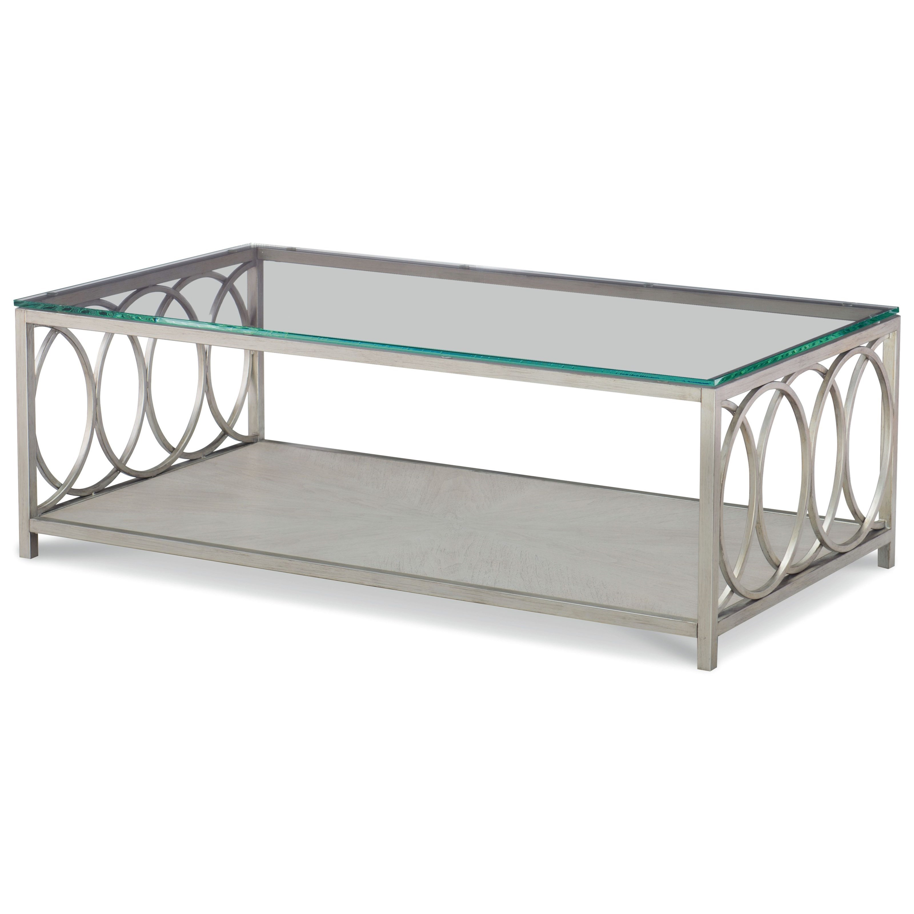 Cinema Glass Top Rectangle Cocktail Table  by Rachael Ray Home by Legacy Classic at Baer's Furniture