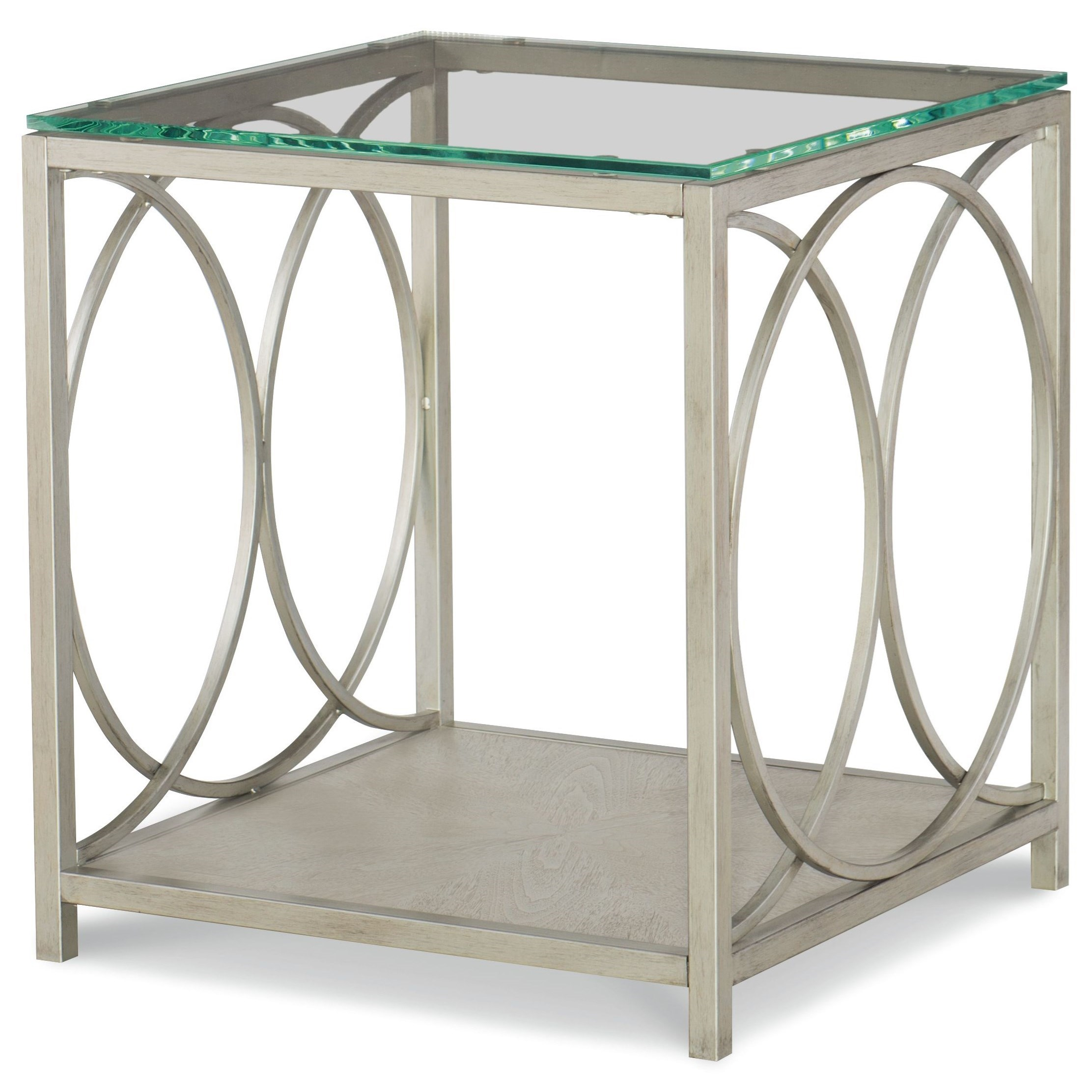 Cinema Glass Top End Table  by Rachael Ray Home by Legacy Classic at Stoney Creek Furniture