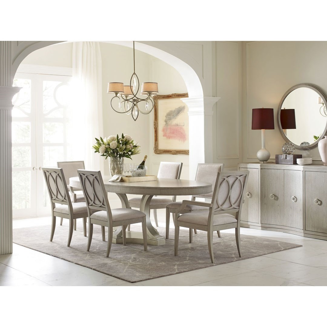Cinema Oval Table and Upholstered Chair Set by Rachael Ray Home by Legacy Classic at Stoney Creek Furniture