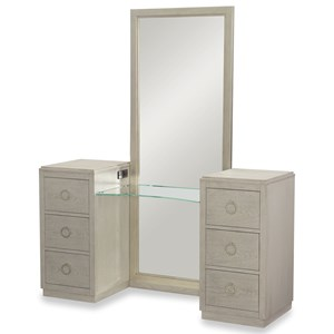 6 Drawer Vanity with Full Length Mirror