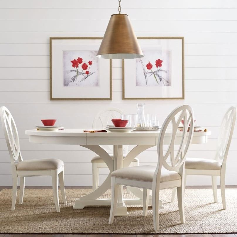 Everyday Dining Round To Oval Dining Table And 4 Chairs by Rachael Ray Home by Legacy Classic at Stoney Creek Furniture