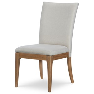 Contemporary Upholstered Back Side Chair
