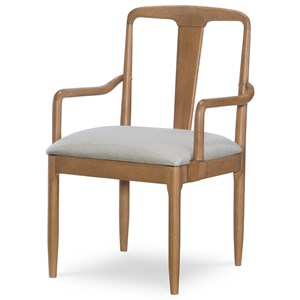 Contemporary Splat Back Arm Chair