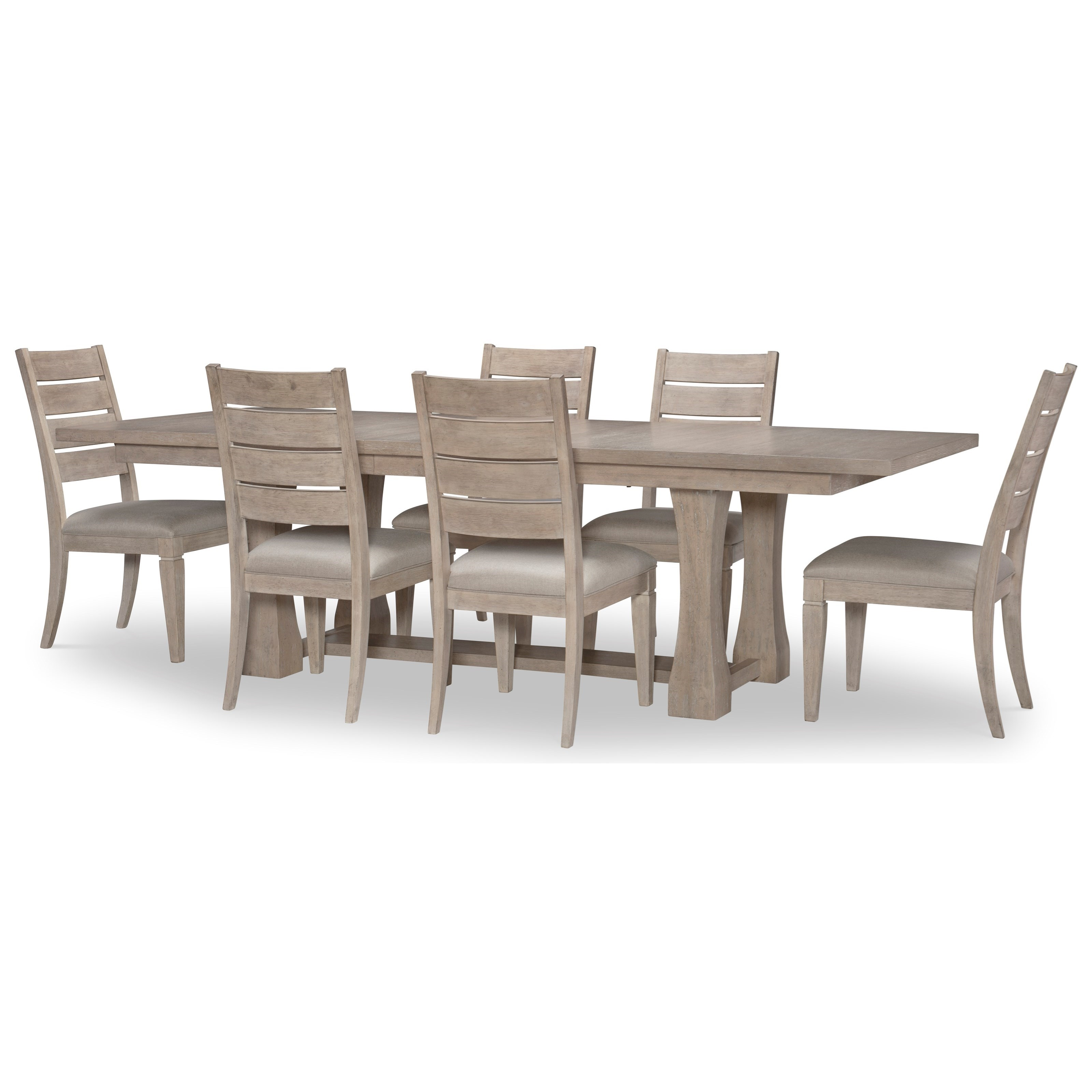 Milano 7-Piece Table and Chair Set at Sadler's Home Furnishings