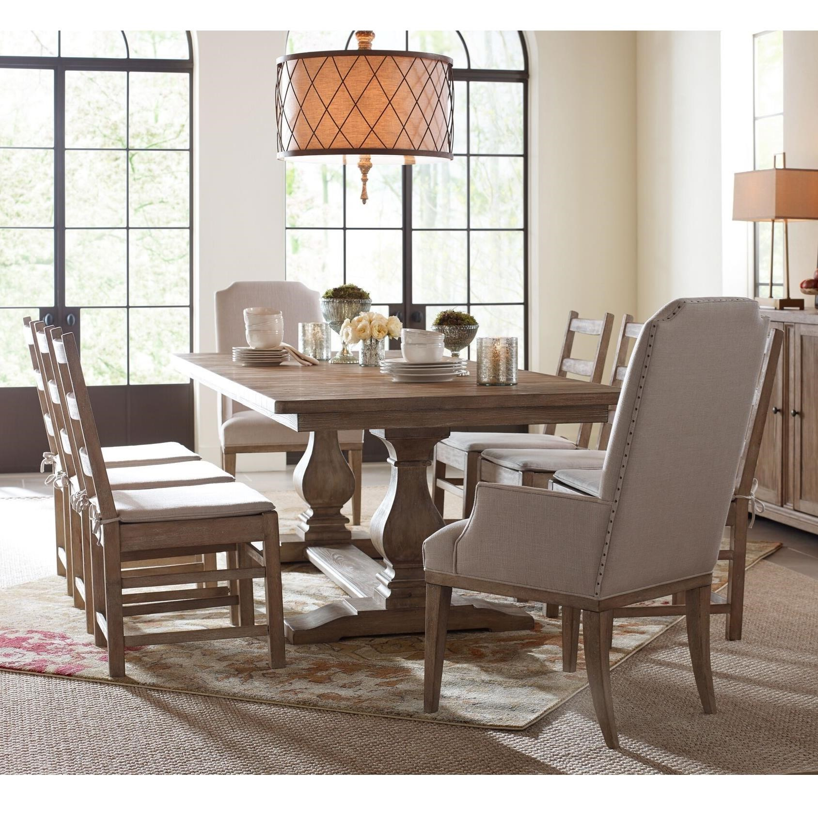 Monteverdi  9 Piece Rectangular Table Set by Rachael Ray Home by Legacy Classic at Fashion Furniture