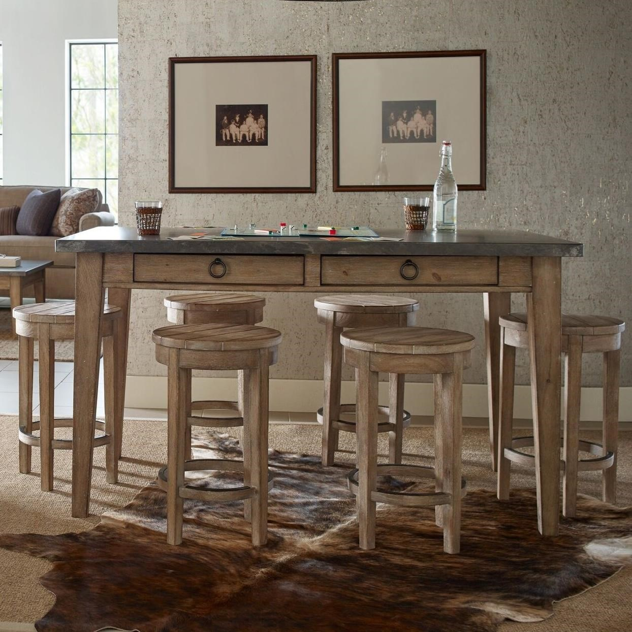 Monteverdi  7 Piece Counter Height Pub Dining Set by Rachael Ray Home by Legacy Classic at Fashion Furniture