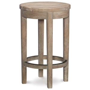 Rustic Round Bar Stool