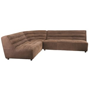 Modular Armless Sectional with Channel Tufting