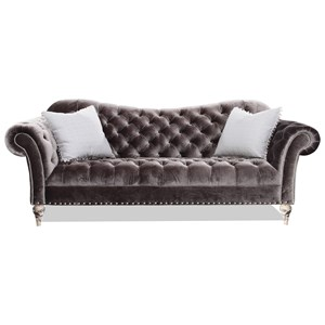 Traditional Sofa with Deep Tufted Accents
