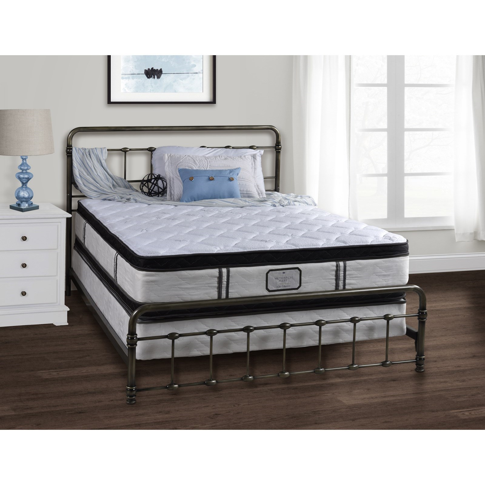 Monarch Elite Elegance PT King PT DS Innerspring Mattress Set by Amish Handcrafted at Saugerties Furniture Mart
