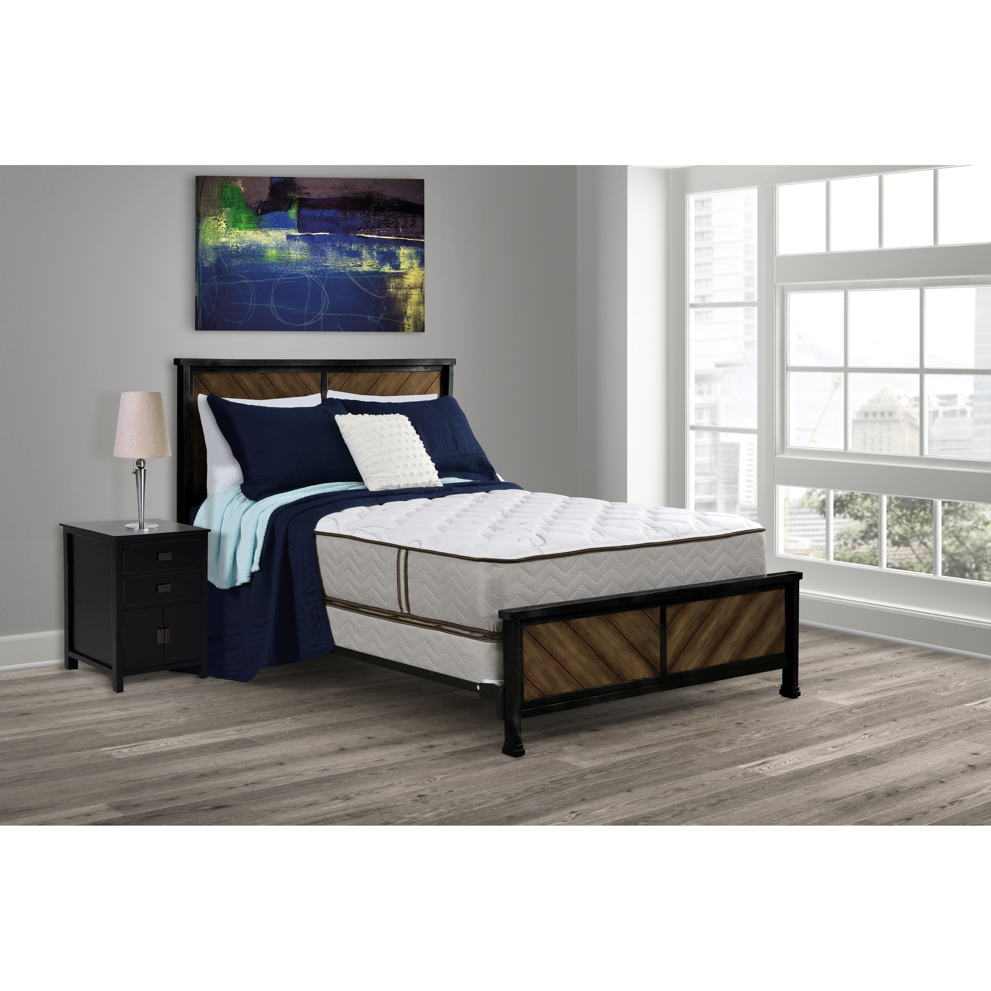 Monarch Elite Firm Full Firm DS Lo-Pro Innerspring Mattress Set by Amish Handcrafted at Saugerties Furniture Mart