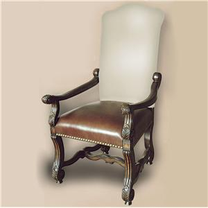 Rare Collections Castlegate Muslin/Leather Arm Chair