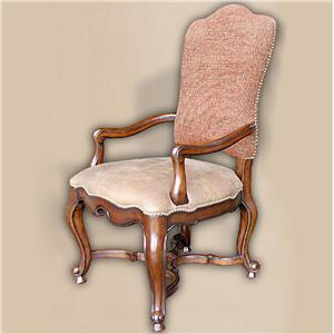 Rare Collections Castlegate Fabric/Leather Upholstered Arm Chair