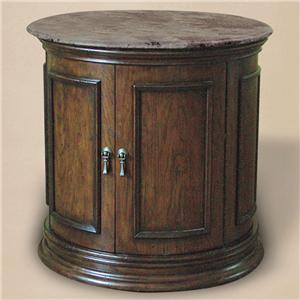 Rare Collections Castlegate Marble Top Barrel Table