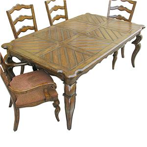 Rare Collections Channel Crossings Rectangle Dining Table