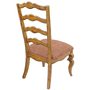 Rare Collections Channel Crossings Ladder Back Side Chair