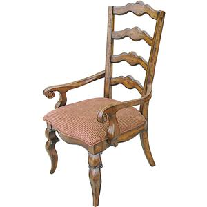 Rare Collections Channel Crossings Ladder Back Arm Chair