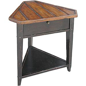 Rare Collections Channel Crossings Triangle Lamp Table