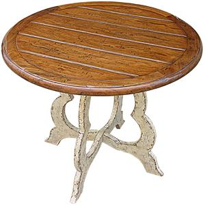 Rare Collections Channel Crossings Round End Table