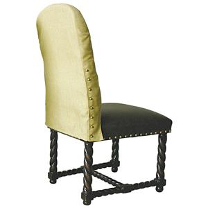 Rare Collections La Bella Vita Leather/Fabric Upholstered Side Chair