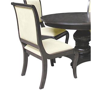 Rare Collections La Bella Vita Wood Frame Upholstered Side Chair