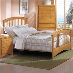 Renar Furniture Contempo Queen Slat Headboard & Footboard Bed