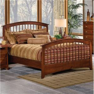 Renar Furniture Contempo Queen Slat Headboard & Footboard Bed