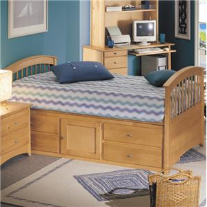 Renar Furniture Contempo Youth Twin Captain's Bed