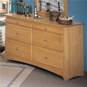 Renar Furniture Contempo Youth 6 Drawer Double Dresser