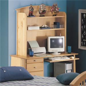Renar Furniture Contempo Youth Computer Desk with Hutch
